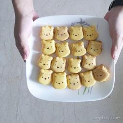 Lemon Pooh Bear Macarons