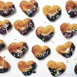 Chocolate Dipped Churro Hearts