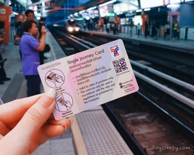 travelling around thailand- BTS Skytrain