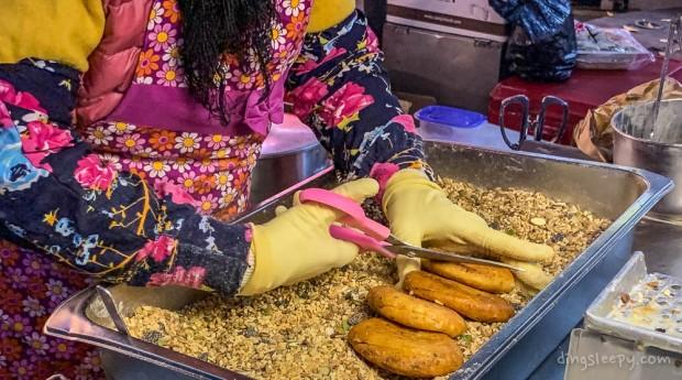 food in busan dingsleepy hotteok making
