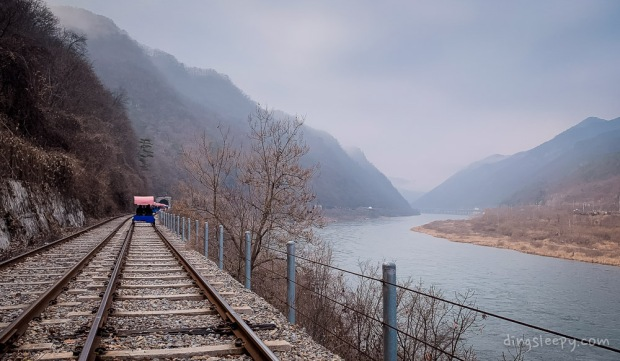 day trip from seoul gangchon rail biking scenery dingsleepy